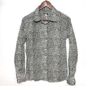 J Crew Cheetah print button down shirt